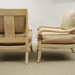 Marge Carson Chairs Walgreens Power Lift Pair Of Sabre Leg Neo Classical Lounge By
