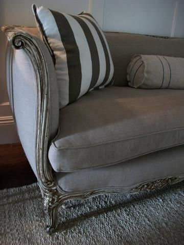 down wrapped cushion sofas barker stonehouse leather antique french sofa in belgian linen and at ...