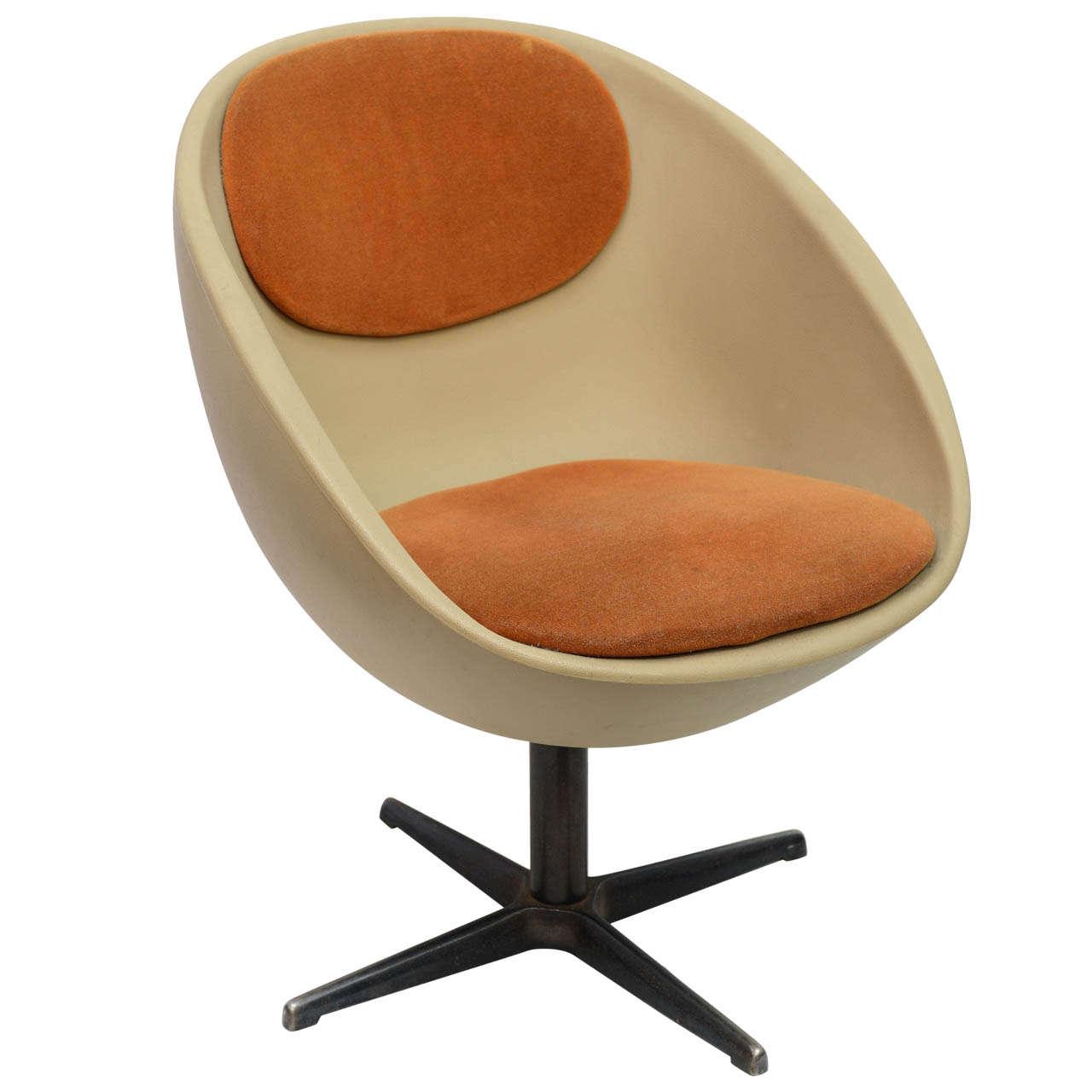 swivel chair mid century panasonic massage chairs 1960s ball/egg at 1stdibs