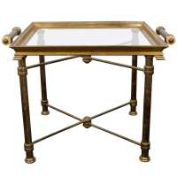 A Mid Century Brass Butler's Table by Chapman at 1stdibs