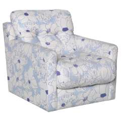 Floral Upholstered Chair Tall Dining Room Chairs Blue And White Arm At 1stdibs
