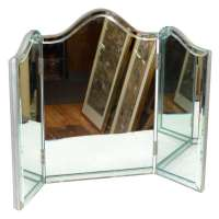 Vintage Hollywood Regency Tri-Fold Vanity Mirror at 1stdibs