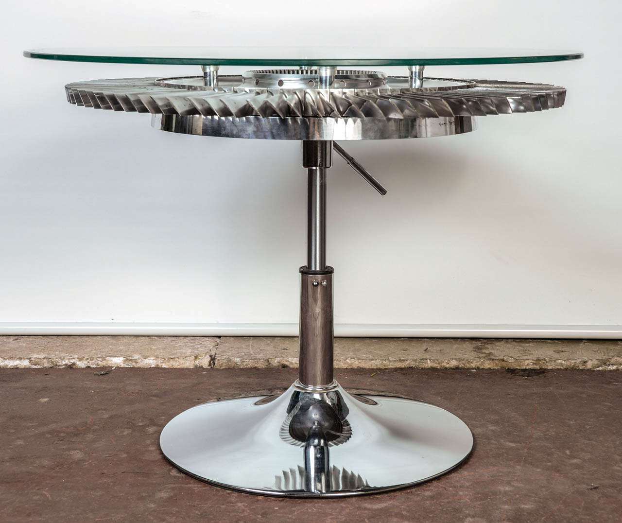 Aviation Jet Engine Turbine Fan Coffee Table At 1stdibs