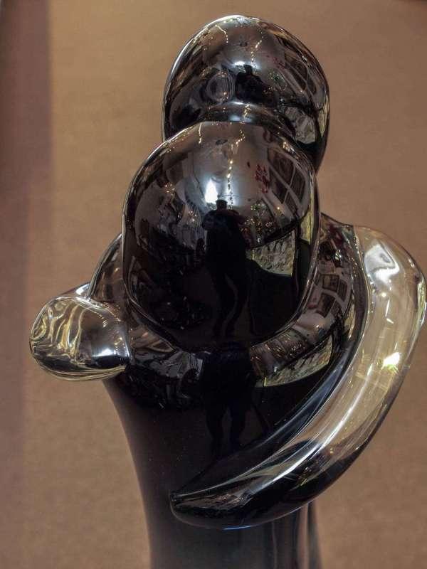 """Venetian Glass Sculpture Titled """"lovers"""""""