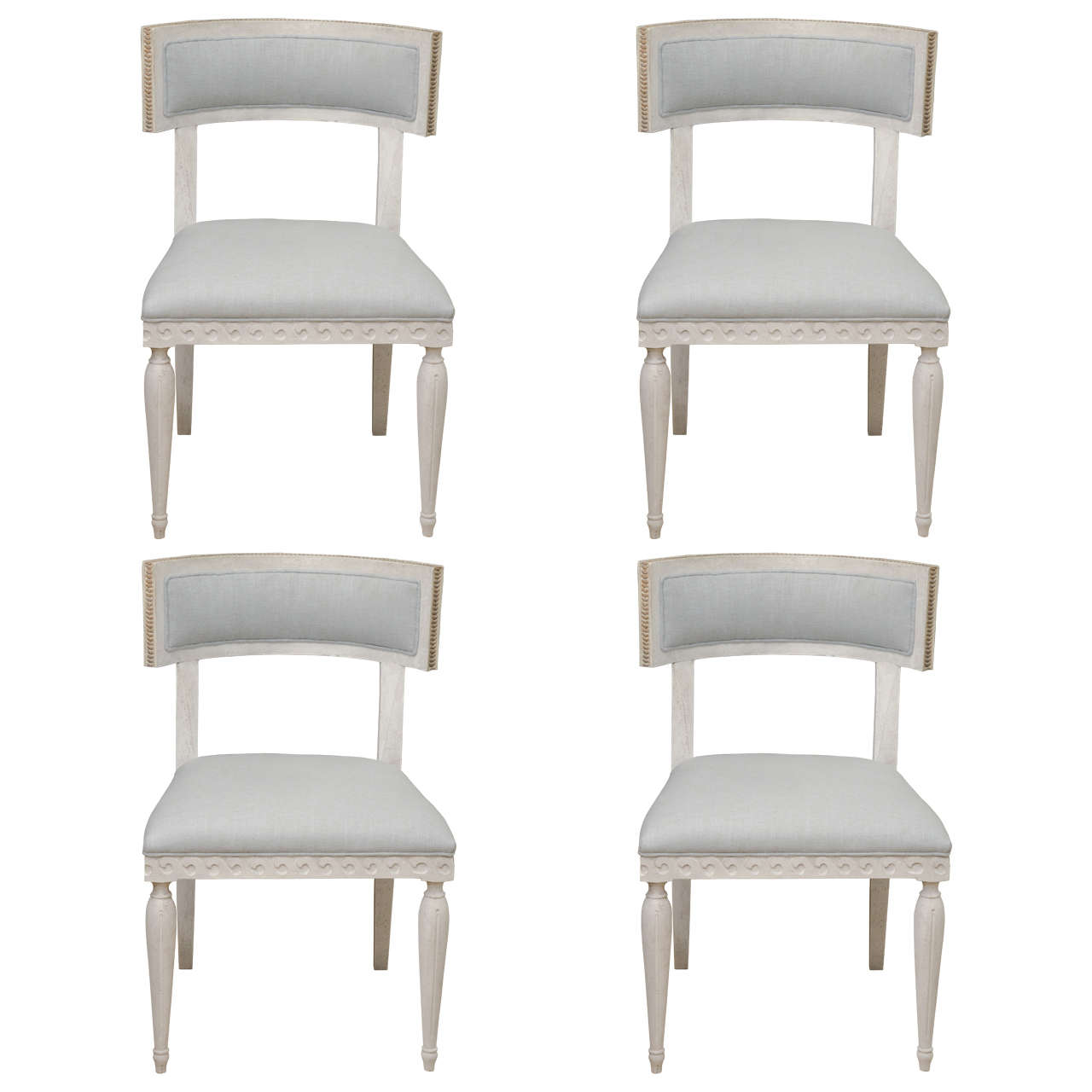 white dining chairs set of 4 folding chair jokes chalk round back at 1stdibs