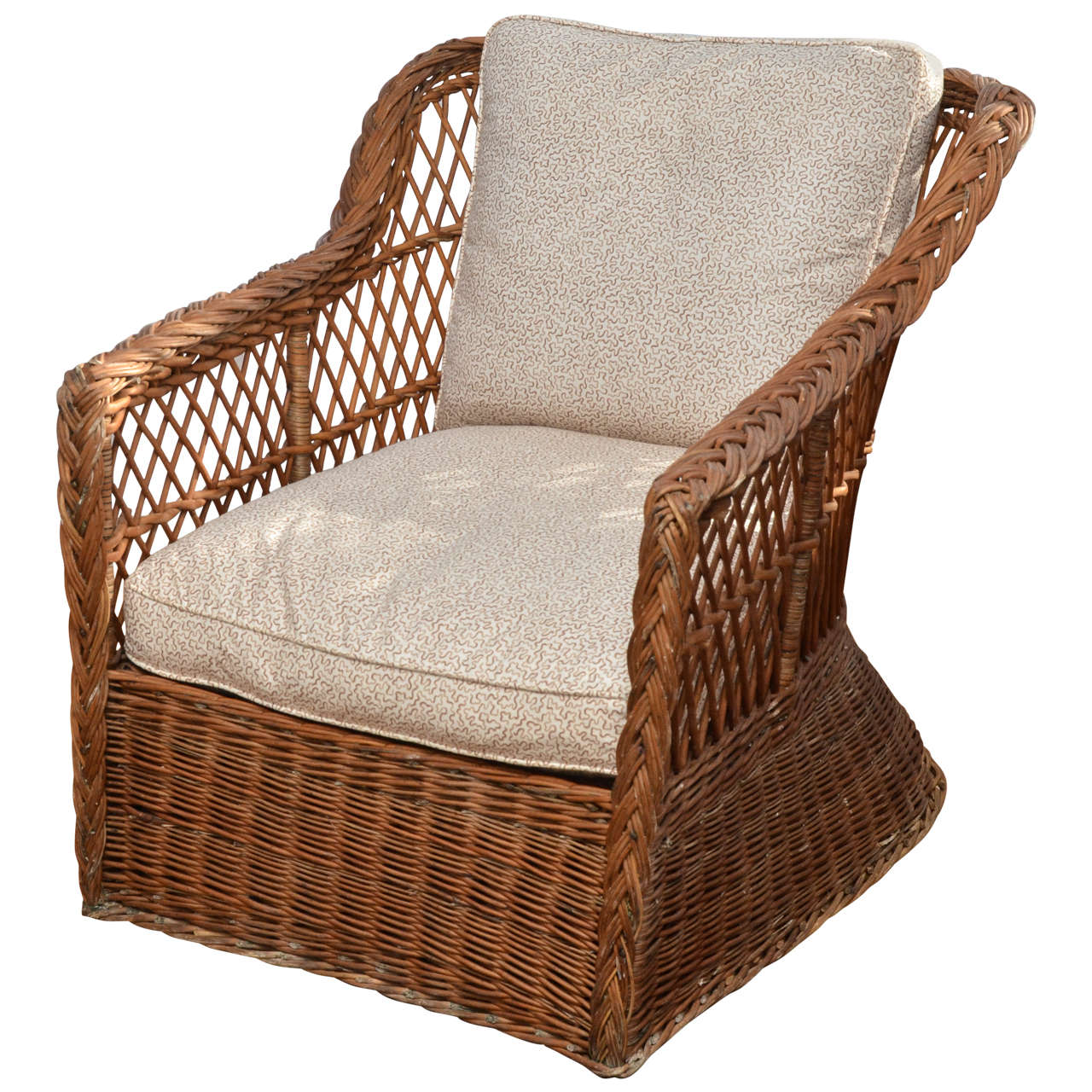 large lounge chair flex steel chairs scale american 1920 39s natural wicker at