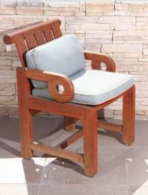 Unusual Set Of Eight Outdoor Teak Dining Chairs 1stdibs