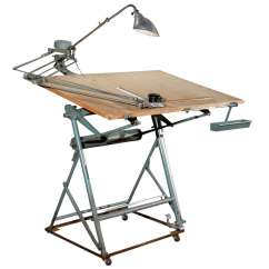 Drafting Table Chairs Outdoor Sling Chair Fabric Replacement Isis With Original Components At 1stdibs