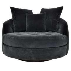 Swivel Chair Large Stokke High Cushion Sewing Pattern Milo Baughman At 1stdibs
