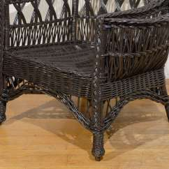 Wicker Wingback Chairs French Louis Chair Antique American Wing With Magazine Pocket At