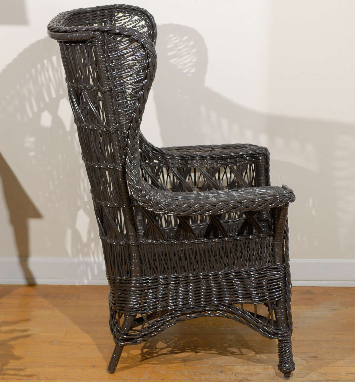 antique wicker chairs best gaming chair american wing with magazine pocket