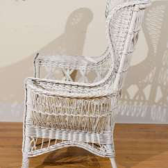 Antique Wicker Chairs Baby Activity Chair Argos American Wing With Magazine Pocket At
