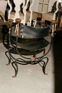 Italian Curule Savonarola Gothic Throne Chair at 1stdibs