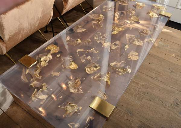Gold Resin Coffee Table