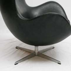 Jacobsen Egg Chair Leather Covers And Bows To Buy Vintage Black Arne At 1stdibs