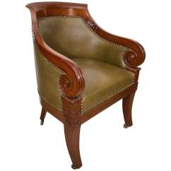 Dillon Chair 1 2 Wrought Iron Lounge Parts Regency Carved Mahogany Tub At 1stdibs