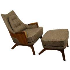 Adrian Pearsall Lounge Chair Ikea Parsons Midcentury With Ottoman At