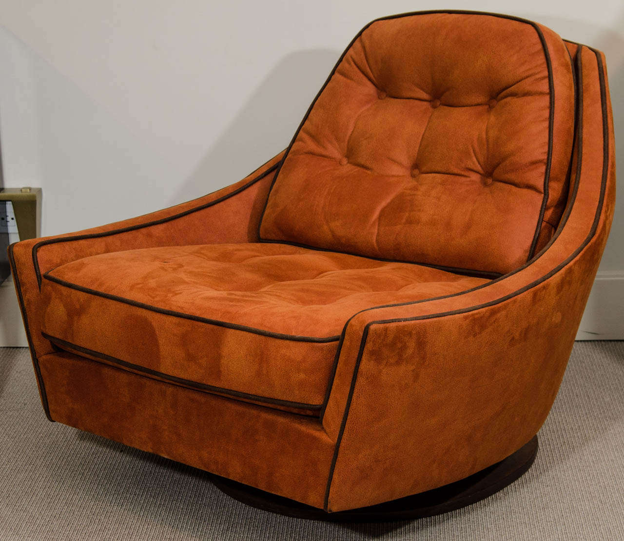 swivel club chair with ottoman dining seat covers spotlight vintage and at 1stdibs