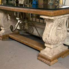 Granite Top Sofa Table Art Van Spanish Colonial Style Stone Console At 1stdibs