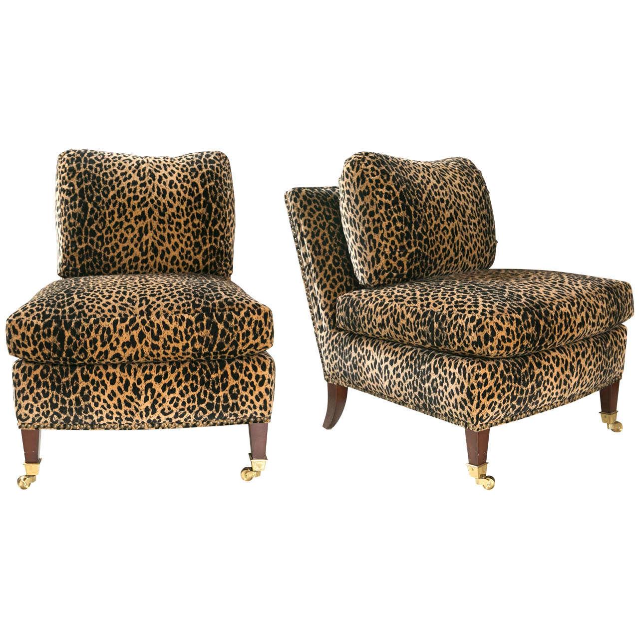 giraffe print chair aeron amazon mid century lolling chairs upholstered in animal