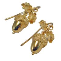 Victorian Gold Acorn Earrings at 1stdibs