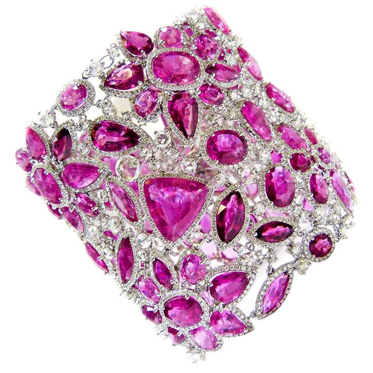 Outstanding Tourmaline and Diamond Bracelet