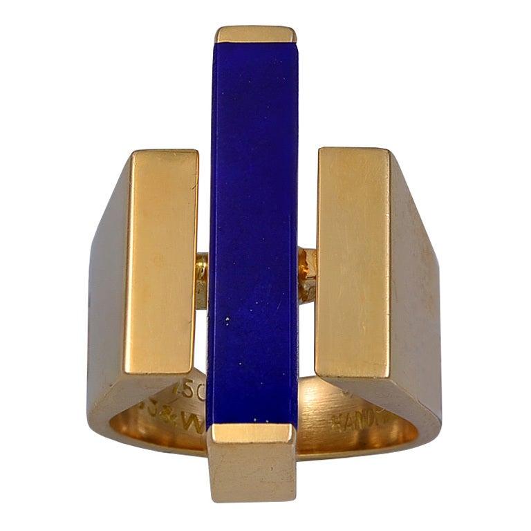Georg Jensen Guld och Lapis Lazuli ring