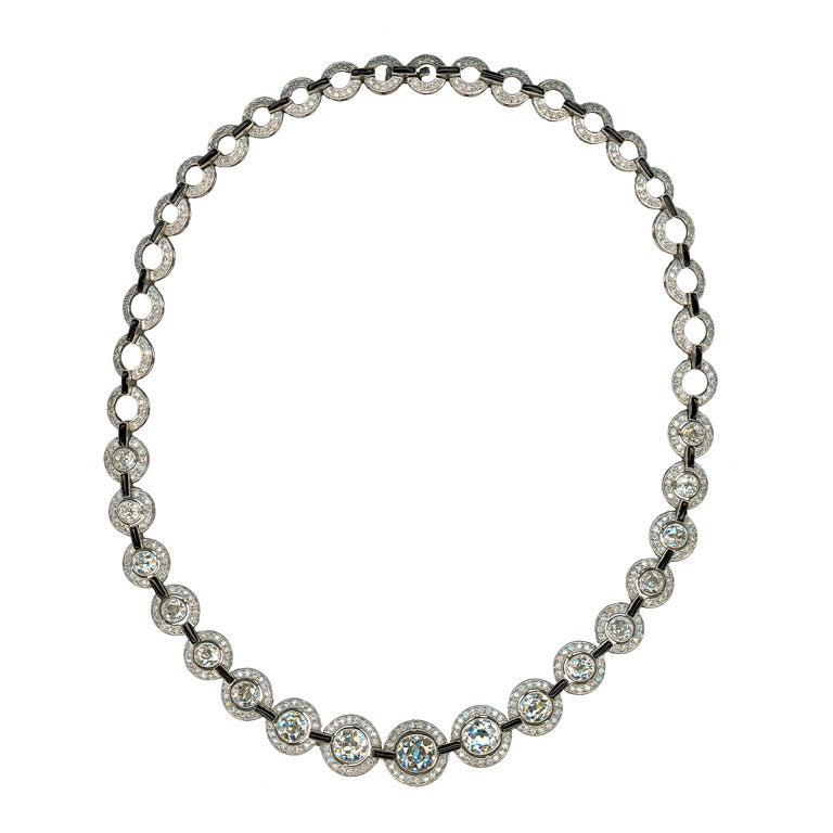 A Fabulous Diamond Necklace at 1stdibs