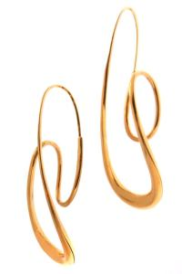 Michael Good Modernist 18kt Gold Earrings at 1stdibs