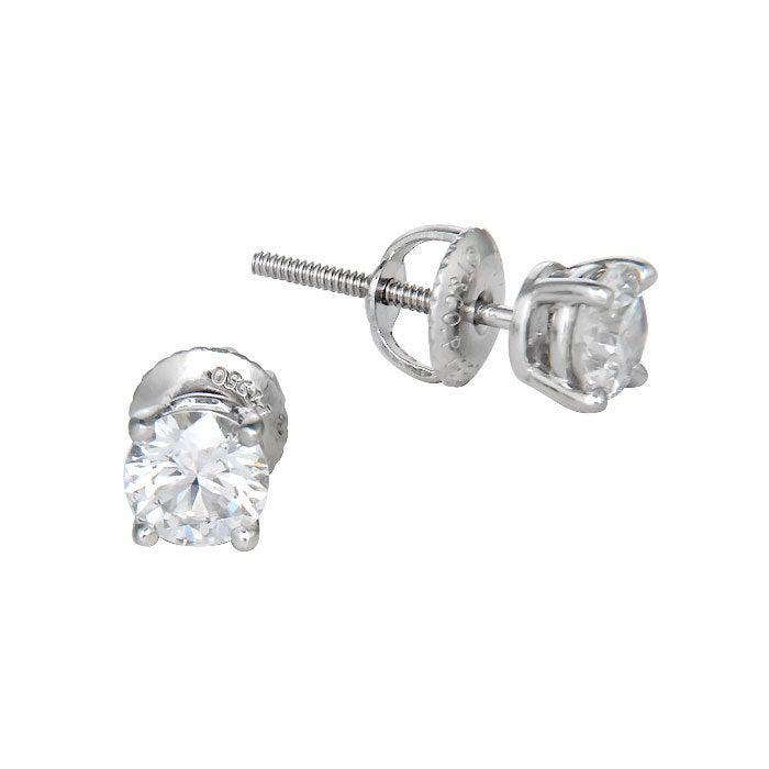 TIFFANY and CO> Diamond Stud Earrings at 1stdibs