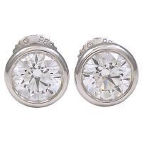 TIFFANY and CO PERETTI Diamond Stud Earrings at 1stdibs