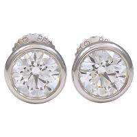 TIFFANY and CO PERETTI Diamond Stud Earrings at 1stdibs