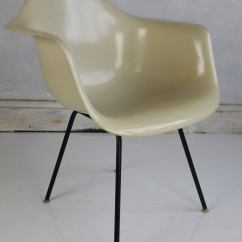 White Shell Chair Teal Living Room Charles Eames Parchment Arm Herman Miller At