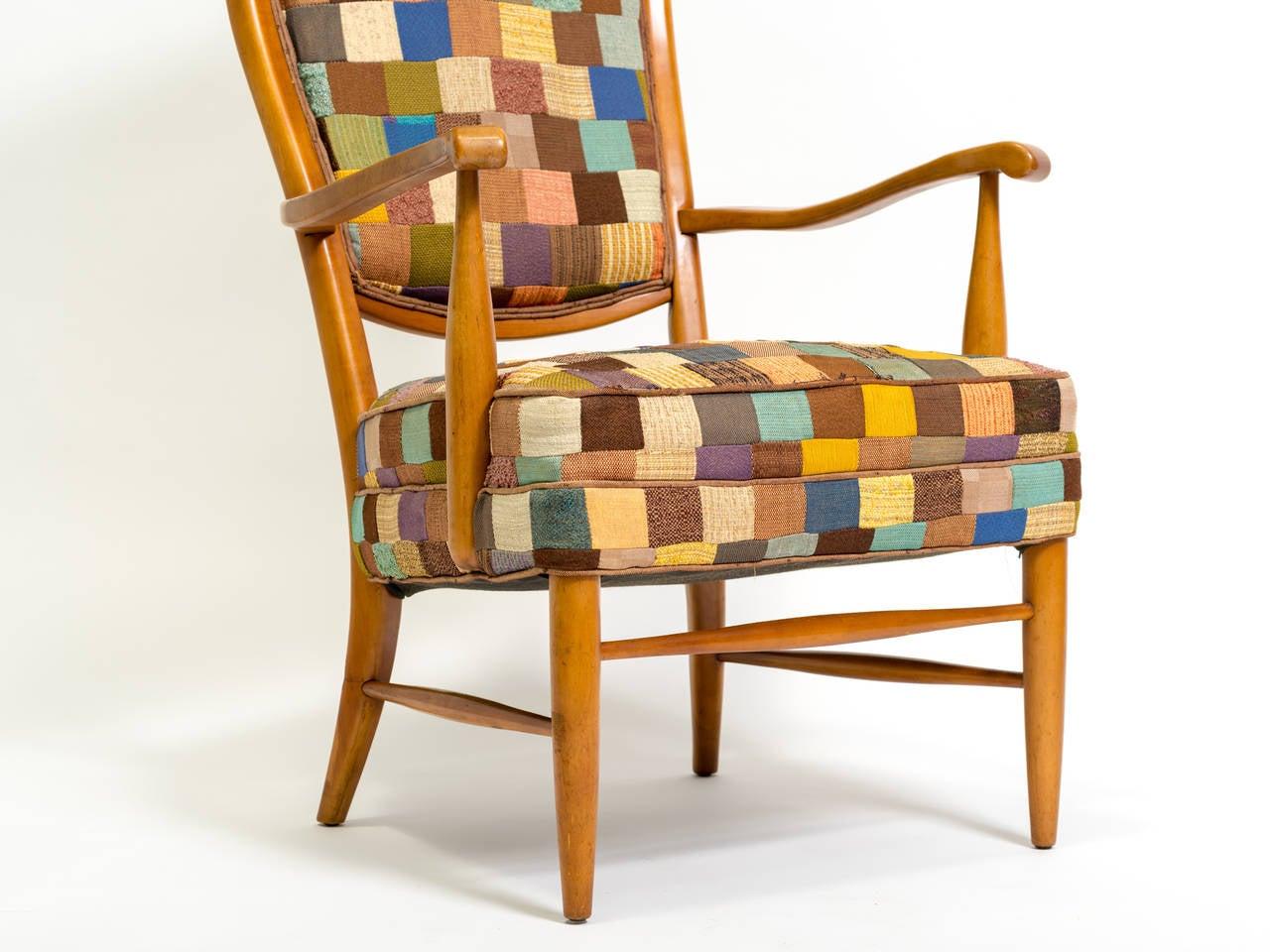 Swedish High Back Lounge Chair at 1stdibs