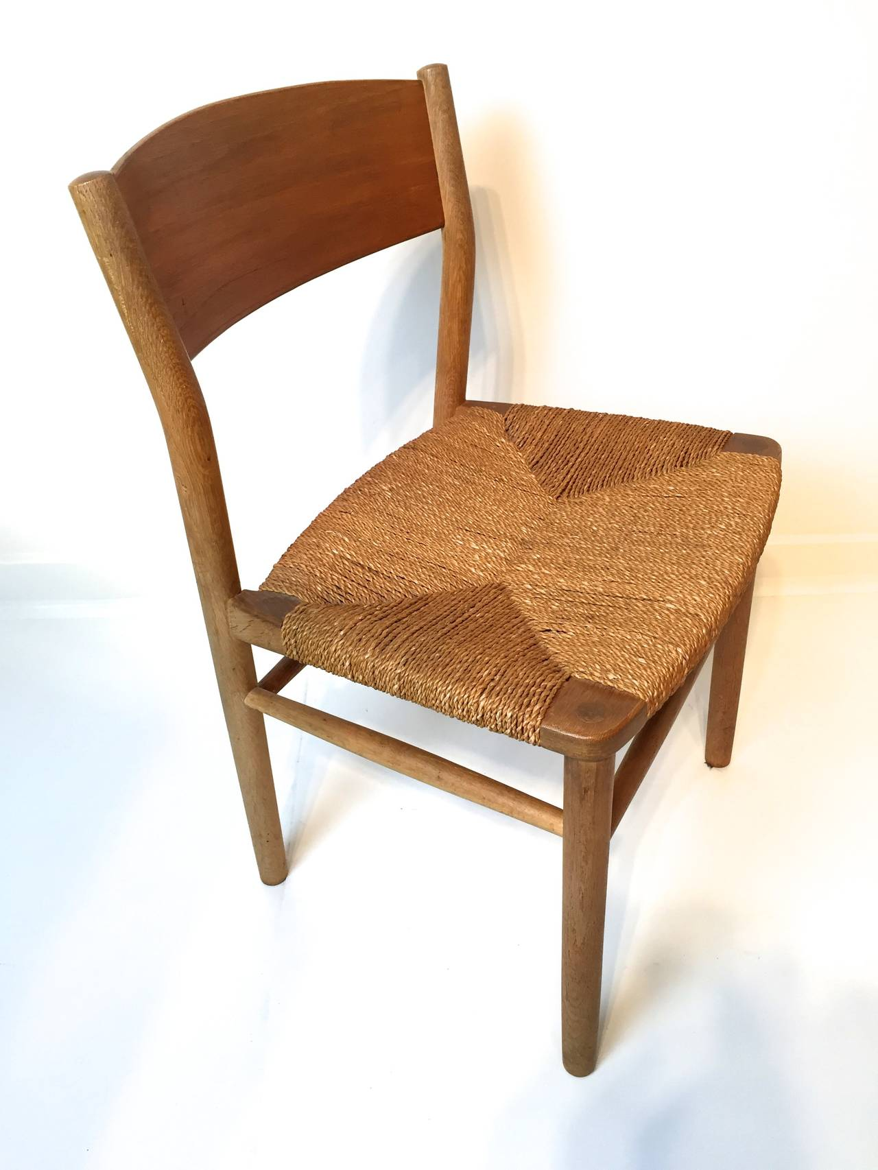pottery barn seagrass chair ebay ivory covers borge mogensen dining at 1stdibs