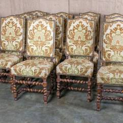 Barley Twist Chair Salon Reception Chairs Set Of 12 Louis Xiii Dining At 1stdibs