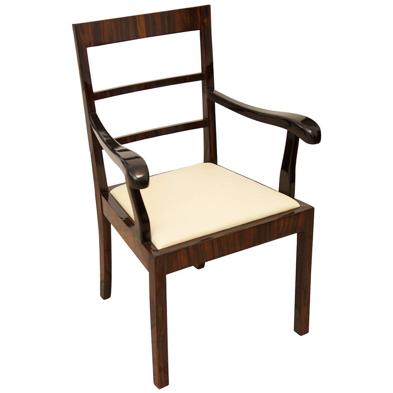 desk chair utm parson covers etsy art deco macassar ebony at 1stdibs