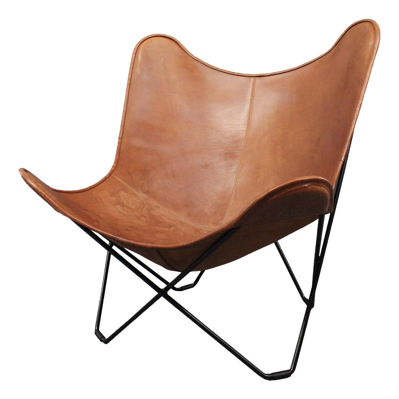 Leather Butterfly Chair Designed by Jorge FerrariHardoy