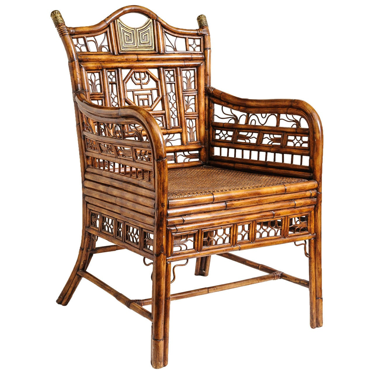 bamboo chairs diy adirondack plans quotbrighton quot armchair or desk chair at 1stdibs