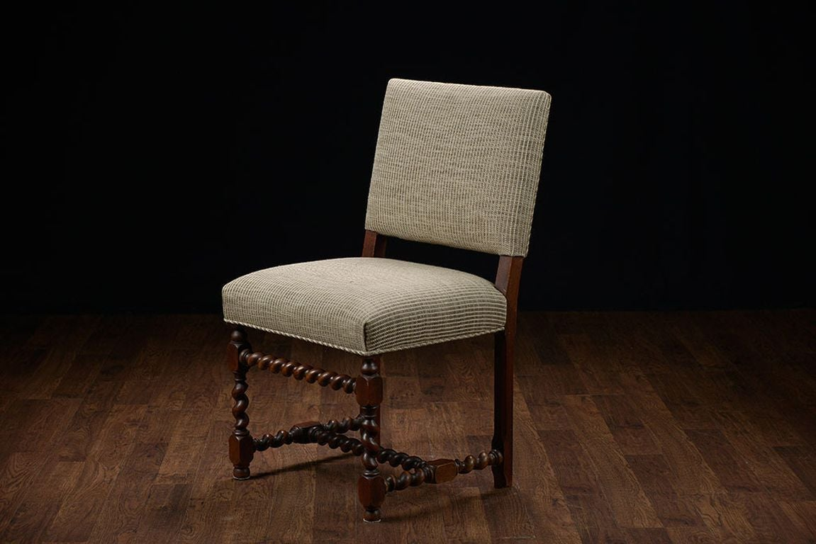 low back dining chairs joovy high chair set of 6 vintage french walnut at