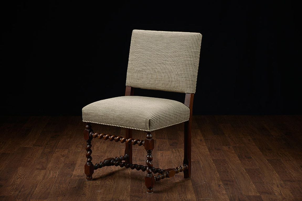 low back dining chairs good gaming chair set of 6 vintage french walnut at