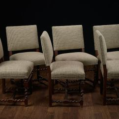 Low Back Dining Chairs Chrisanna Wingback Club Chair Set Of 6 Vintage French Walnut At