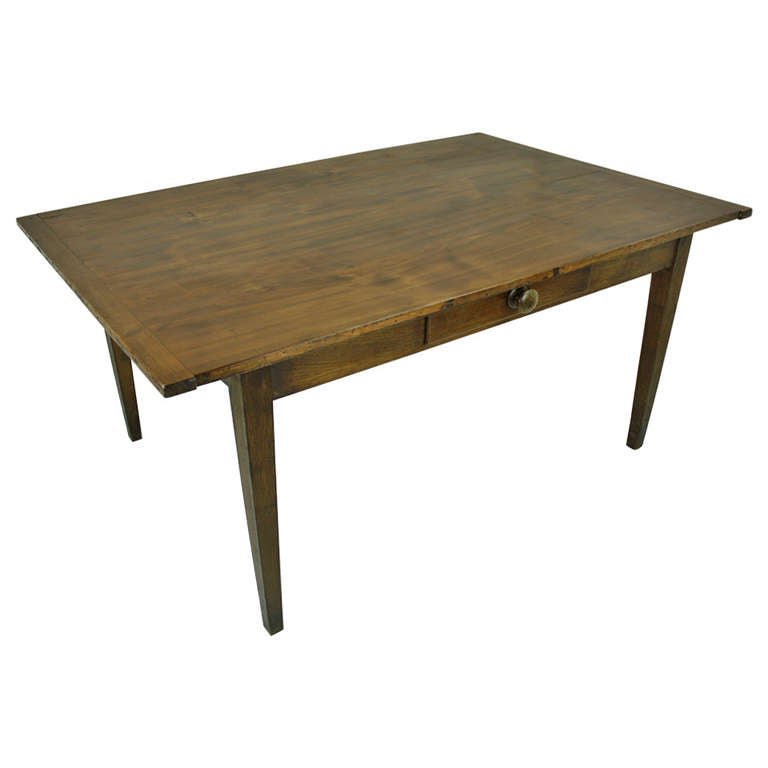 Antique French Cherry Writing DeskTable at 1stdibs