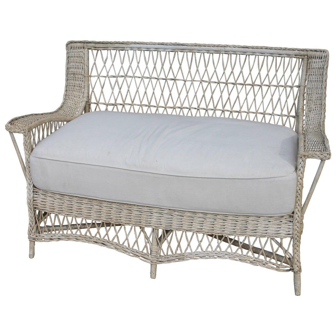 1930 cane back sofa sofas etc reviews 1930s original cream painted heywood wakefield wicker