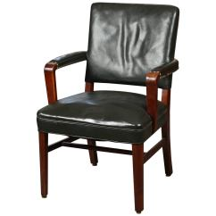 Desk Chair Utm Unfinished Wood Rocking Runners Leather At 1stdibs