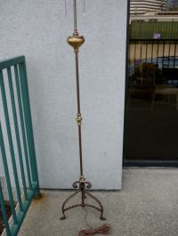 Spanish Baroque Style Bronze Floor Lamp at 1stdibs