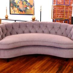 Curved Tufted Sofa Children S Playroom Sumptuous Back At 1stdibs