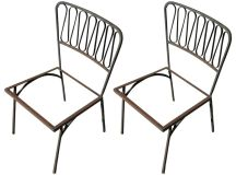 Pair of Salterini Iron Outdoor Side Chairs at 1stdibs
