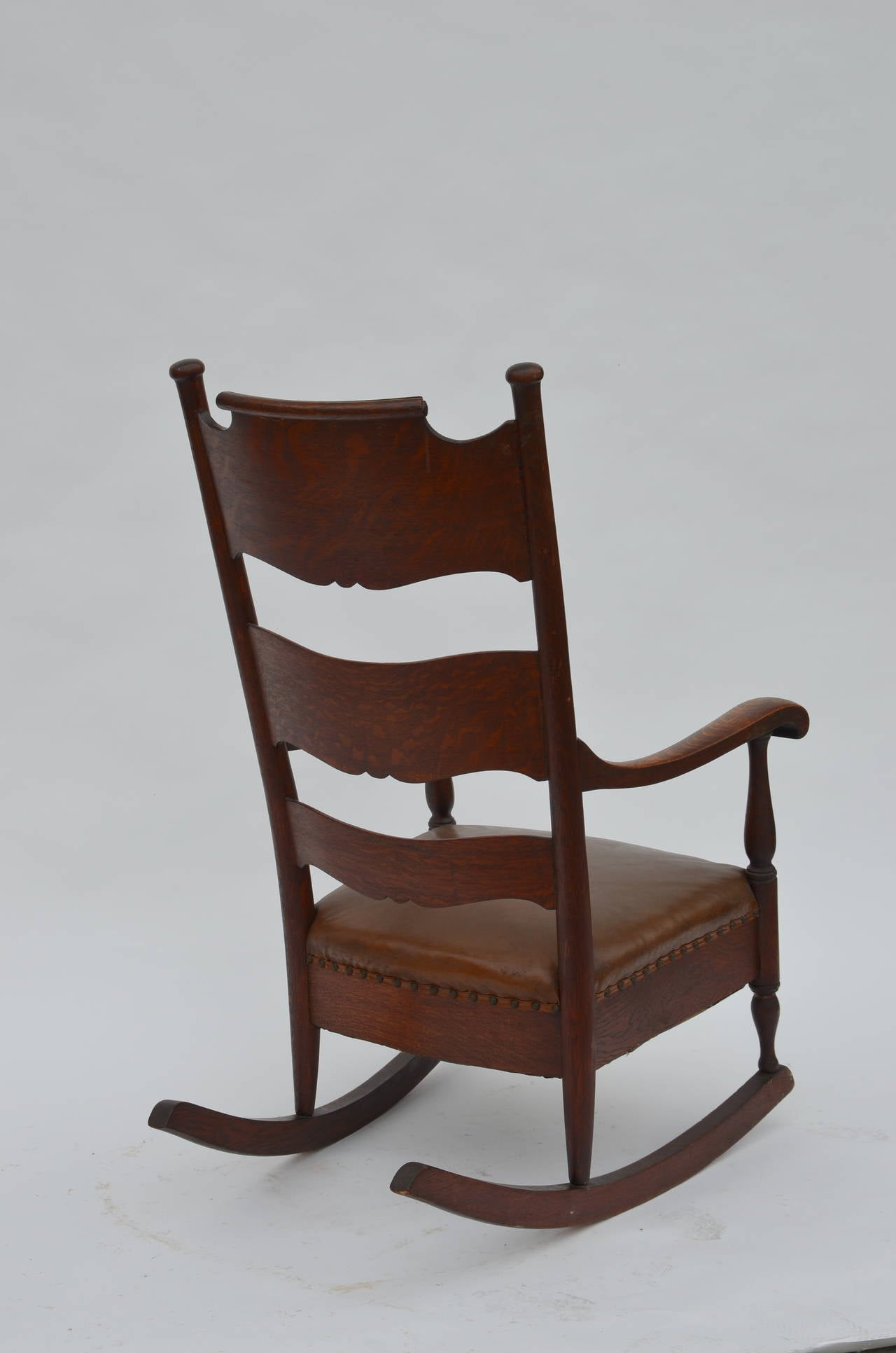 comfortable rocking chair classic barber chairs arts and crafts carved oak at