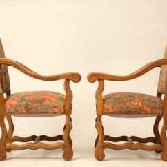 French Country Dining Chairs With Arms Chair Seat Covers Etsy Set Of 8 Vintage Os De Mouton 2 W